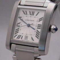 Cartier Tank Française Stål 28mm Silver
