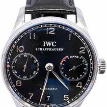 IWC Portuguese Automatic occasion 42.3mm Noir Date Cuir