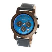 Nouvelle Horlogerie Calabrese (NHC) 45mm Quartz Horloge Holzkern Bergbeek new