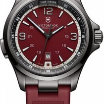 Victorinox Swiss Army Night Vision Black Ice red Herrenuhr 241717