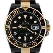 Rolex Used 116713 GMT Master II in Black PVD Steel with Gold...