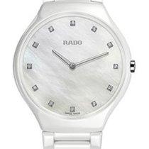 Rado Ladies True Thinline White High-tech Ceramic Watch