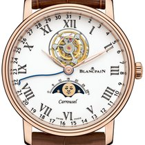 Blancpain Rose gold Automatic White 42mm new Villeret Moonphase