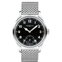 Montblanc 1858 Small Seconds Black Dial Stainless Steel Mens...