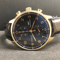 IWC Portuguese Chronograph (two straps) + Orig. Gold Fold Clasp