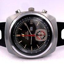 Enicar Chronograaf 43mm Handopwind 1970 tweedehands Grijs