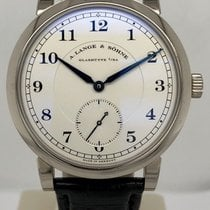 A. Lange & Söhne White gold Manual winding Silver 40mm pre-owned 1815