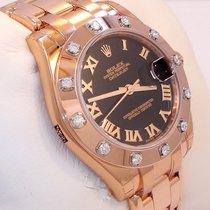 Rolex Rózsaarany Automata Római 34mm új Lady-Datejust Pearlmaster