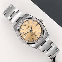 Rolex Oyster Perpetual 34 Aço 34mm Amarelo