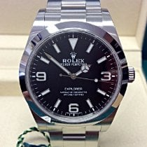 Rolex Explorer Steel 39mm Black Arabic numerals