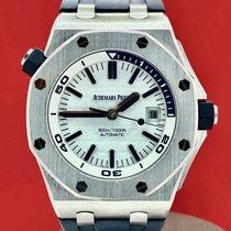 Audemars Piguet Royal Oak Offshore Diver Acier 42mm Blanc Sans chiffres