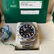 Rolex Steel Automatic Black No numerals 42mm pre-owned Explorer II
