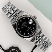 Rolex Datejust Золото/Cталь 36mm Чёрный