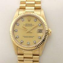 Rolex Datejust 68278 Diamond Diamant Automatik Très bon Or jaune 31mm Remontage automatique