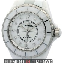Chanel J12 White Ceramic 38mm Automatic MOP Diamond Dial