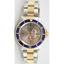 Rolex Submariner 16613 Stainless Steel and 18K Yellow Gold...