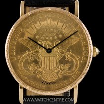 Corum 18k Y/G Very Rare $20 Coin Gents Watch Retailed By Cartier