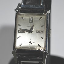 Bulova pre-owned Manual winding 22mm Silver Glass Not water resistant