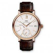 IWC Rose gold Manual winding Silver 45mm new Portofino Hand-Wound