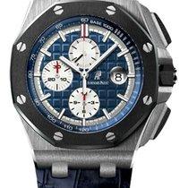 Audemars Piguet Royal Oak Offshore Chronograph occasion 44mm Bleu Chronographe Date Platine