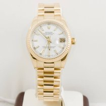 Rolex Datejust 178278 31mm 18k Gold President Box & Papers...