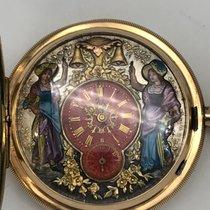 jacquemart 1/4 repetition sonnerie gold gousset pocket watch