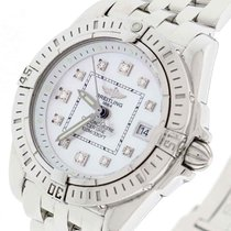 Breitling Windrider Cockpit Factory Diamond Dial Ladies Watch...