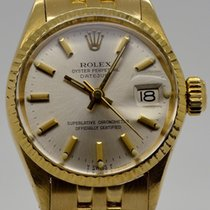 Rolex Oyster Perpetual Lady Date Or jaune 26mm Champagne
