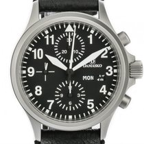 Damasko DC56 Stahl Automatik Chronograph Lederband 40mm