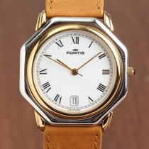 Fortis Colors Acero y oro 34mm Blanco Romanos