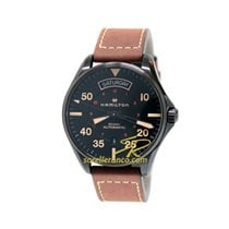 Hamilton DAY DATE AUTO Man 42mm automatic dark brown leather