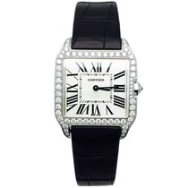 Cartier Santos Dumont pre-owned 28mm Champagne Leather