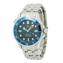 Omega Seamaster 2561.80 Midsize Mens Quartz Watch Blue Dial...