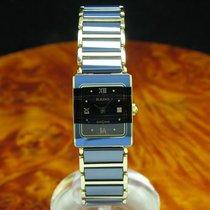 Rado Diastar Keramik / Gold Mantel Damenuhr / Ref 153.0283.3