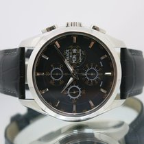 Tissot Chronograph 43mm Automatic pre-owned Couturier Black