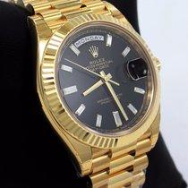 Rolex Oro amarillo Automático Negro 40mm nuevo Day-Date 40