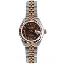 Rolex Lady-Datejust Gold/Steel 28mm Brown Roman numerals