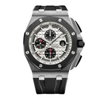 Audemars Piguet Steel Automatic Silver No numerals 44mm new Royal Oak Offshore Chronograph