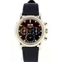 Patek Philippe Platine Remontage manuel Noir 36mm occasion Perpetual Calendar Chronograph