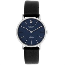 Rolex Cellini pre-owned 30.5mm Blue Leather
