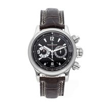 Jaeger-LeCoultre Master Compressor Chronograph pre-owned 41.5mm Black Chronograph Date Tachymeter Crocodile skin