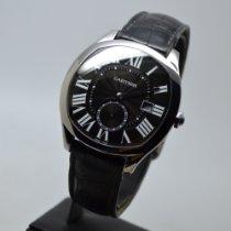 Cartier Drive de Cartier подержанные 40mm Черный Дата Кожа