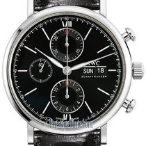 IWC Portofino Chronograph Steel 42mm Black United States of America, New York, Airmont