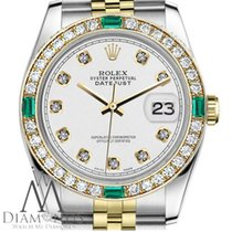 Rolex Lady-Datejust Or/Acier 31mm Blanc