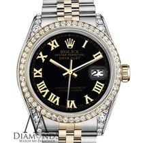 Rolex Datejust Gold/Steel 36mm Black Roman numerals United States of America, New York, New York
