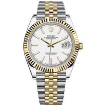 Rolex Datejust II Steel and Yellow Gold White Stick  Dial 41mm