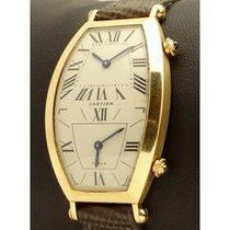 Cartier   Tonneau Dual Time 18kt Yellow gold