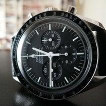 Omega Acier Remontage manuel Noir Sans chiffres 42mm nouveau Speedmaster Professional Moonwatch