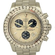 Breitling Colt Chronograph pre-owned 41mm Champagne Date Tachymeter Steel