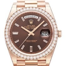 Rolex Day-Date 40 Everose-Gold 228345RBR Choco Diamant